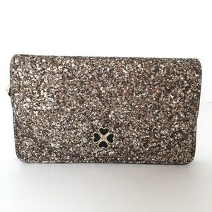 NEW! Kate Spade Rose Gold Glitter Wristlet Clutch